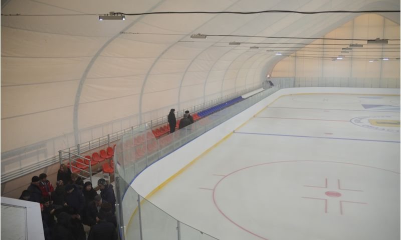 Ледовый комплекс в поселке Некрасовское готовится к открытию