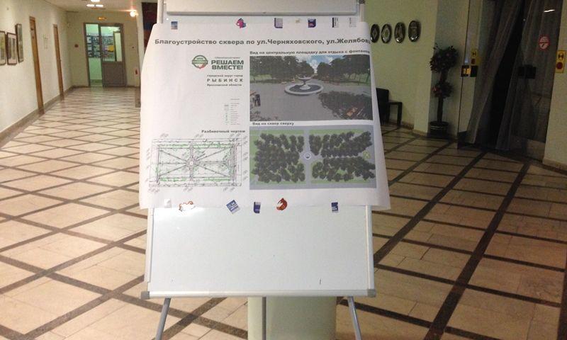 Жители Рыбинска обсудили эскизный проект благоустройства парка на улице Черняховского по проекту «Решаем вместе!»