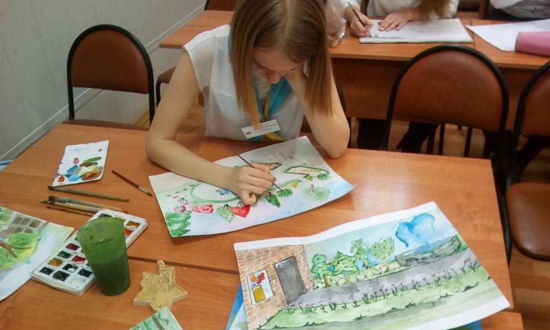 Школьники Фрунзенского района рисуют город своей мечты для проекта «Решаем вместе!»