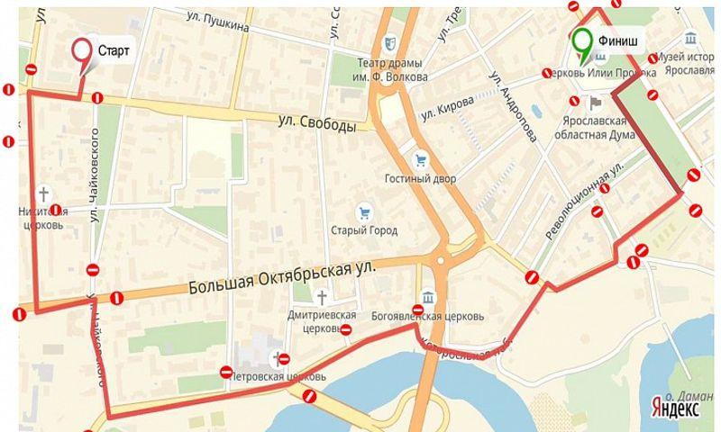 Из-за ночного велопробега в Ярославле перекроют часть улиц: схема