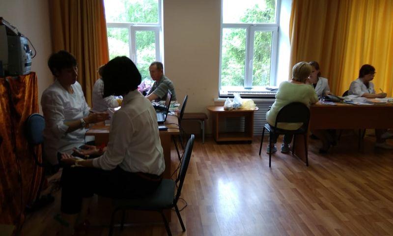 В рамках проекта «Здоровая Ярославия» медики обследовали жителей Борка