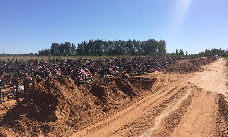 Завалили песком: власти Рыбинска придумали, как решить проблему с подтоплениями кладбища