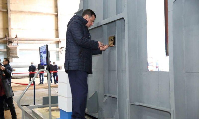 Дмитрий Миронов принял участие в церемонии закладки пограничных кораблей на Ярославском судостроительном заводе