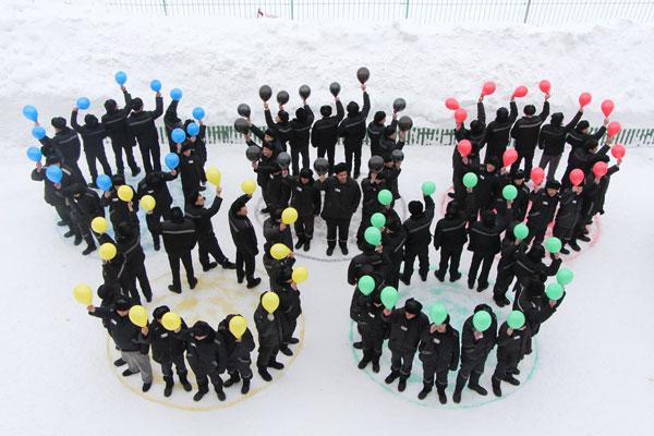 Ярославские заключенные устроили флешмоб в поддержку российских олимпийцев
