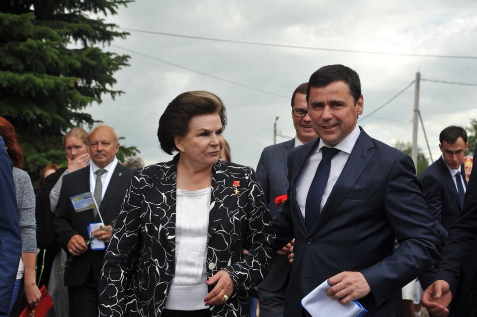 Губернатор Ярославской области поздравил Валентину Терешкову с днем рождения