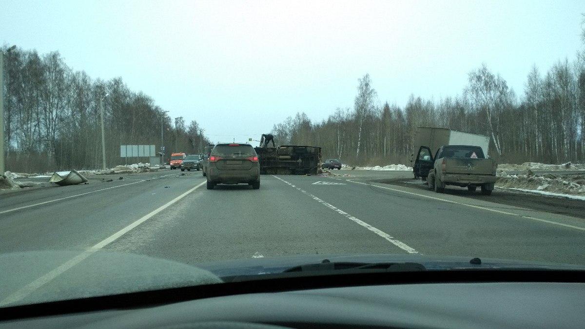 На трассе М8 в Ярославской области столкнулись две «Газели»