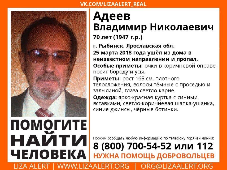 В Ярославской области ищут 70-летнего мужчину