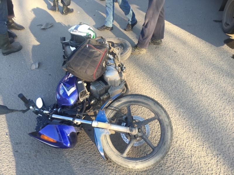 В Рыбинске «Газель» сбила мотоциклиста