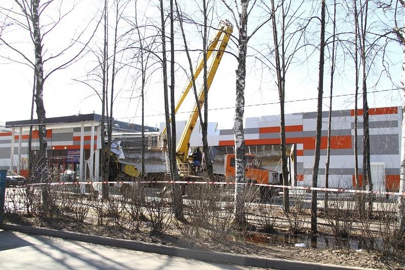 В Рыбинске демонтируют часть супермаркета, где рухнула крыша