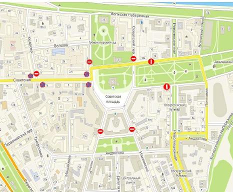 В центре Ярославля 1 мая перекроют движение транспорта: схема