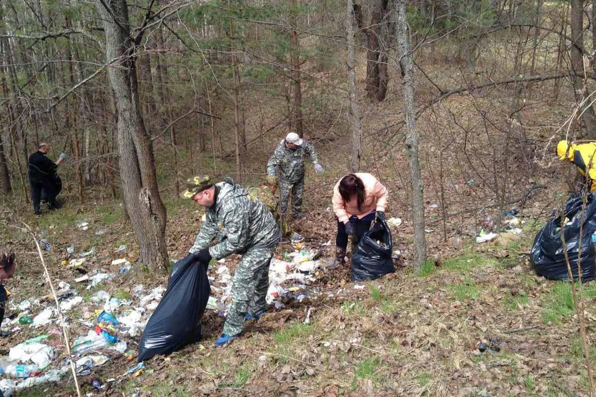 В мероприятиях по ликвидации несанкционированных свалок в лесах региона активно участвуют волонтеры