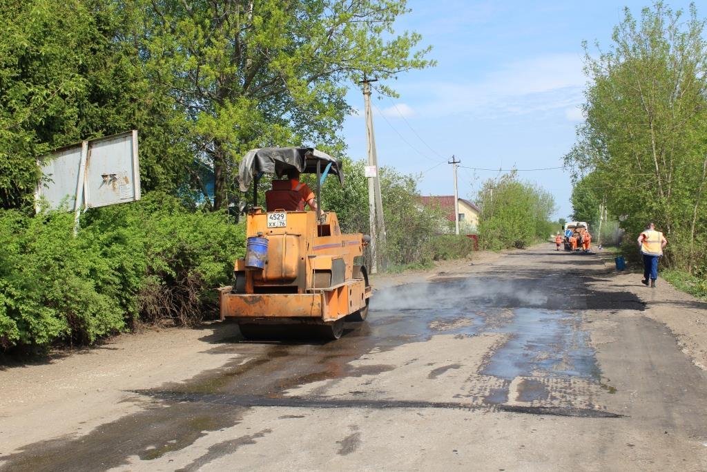 Под Ярославлем начался ремонт дороги, соединяющую несколько населенных пунктов