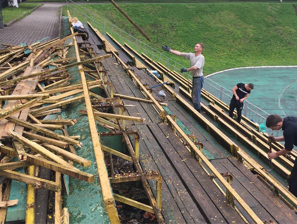 В Ярославле начался ремонт стадиона «Спартаковец»