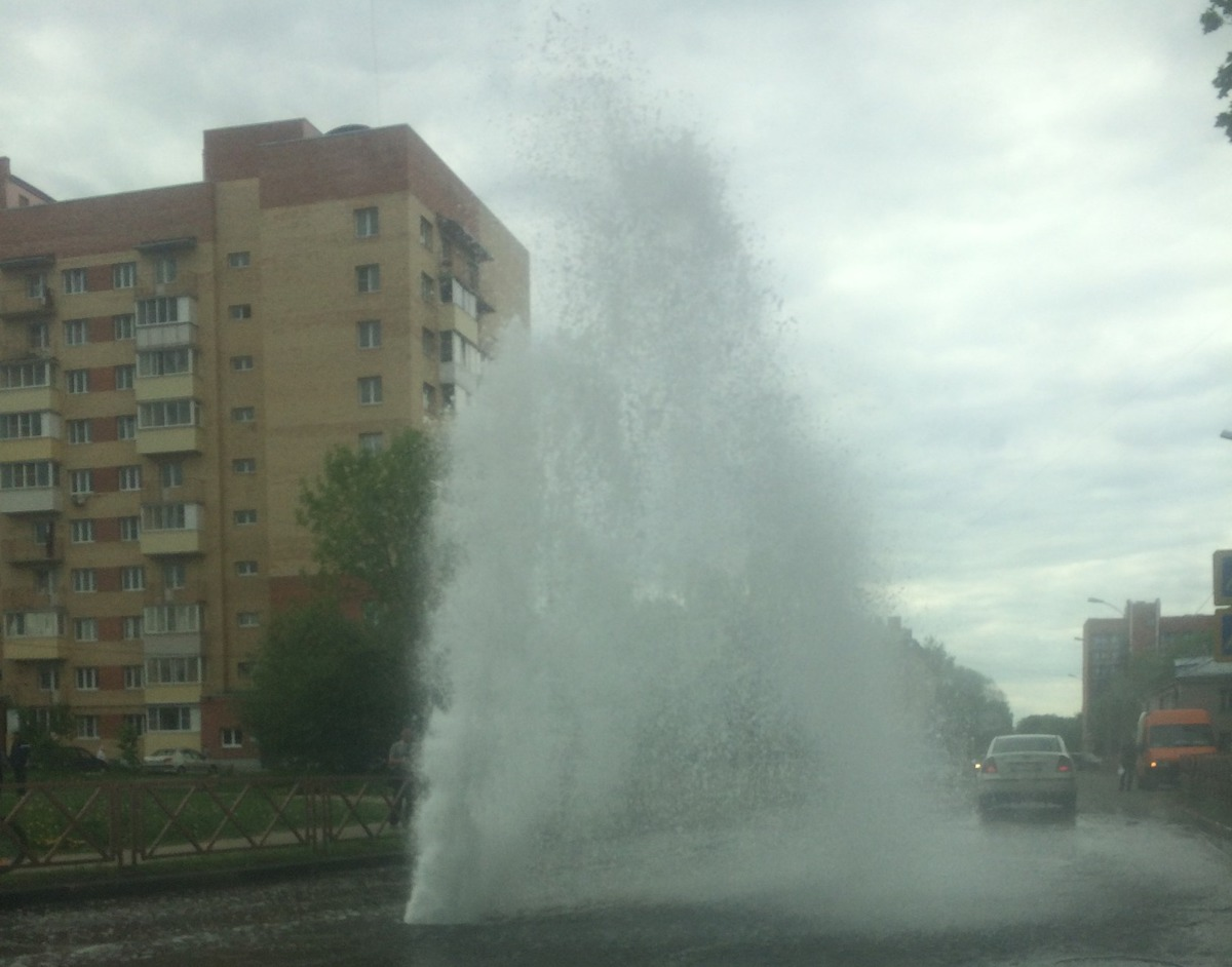 В Ярославле из-под земли бьет гейзер: видео