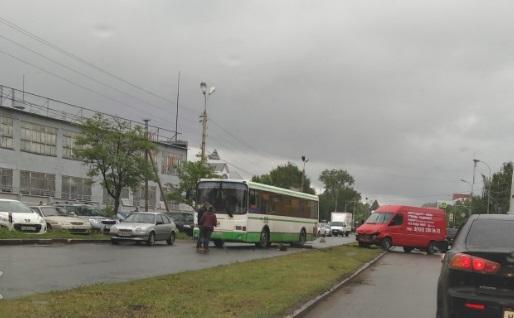 В Ярославле в ДТП попал рейсовый автобус