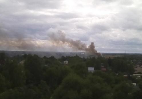 Над Перекопом поднимается столб черного дыма: что горит?