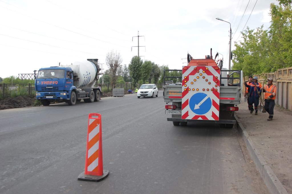 Ремонт улицы Магистральной в Ярославле идет с опережением графика