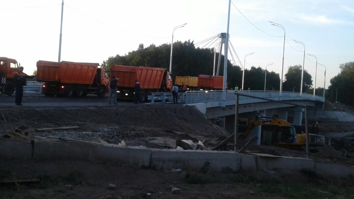 В Ярославле провели испытания нового моста через Которосль