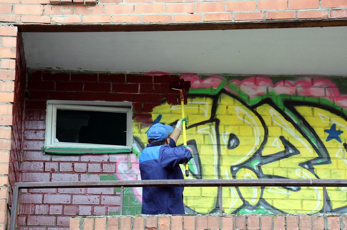 Портал «Делаем вместе» помогает ярославцам бороться с граффити на фасадах домов