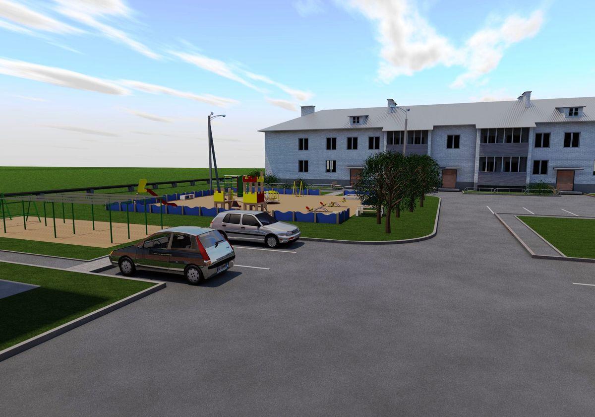 В поселке Ярославка благоустраивают дворы по программе «Решаем вместе!»