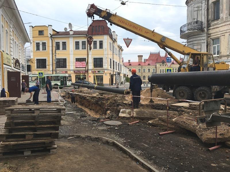 В Рыбинске преображают исторический центр города