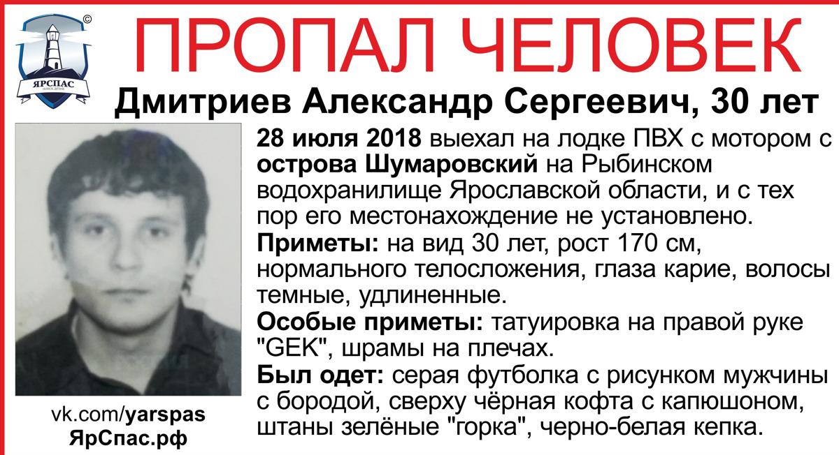 На Рыбинском водохранилище пропал 30-летний мужчина