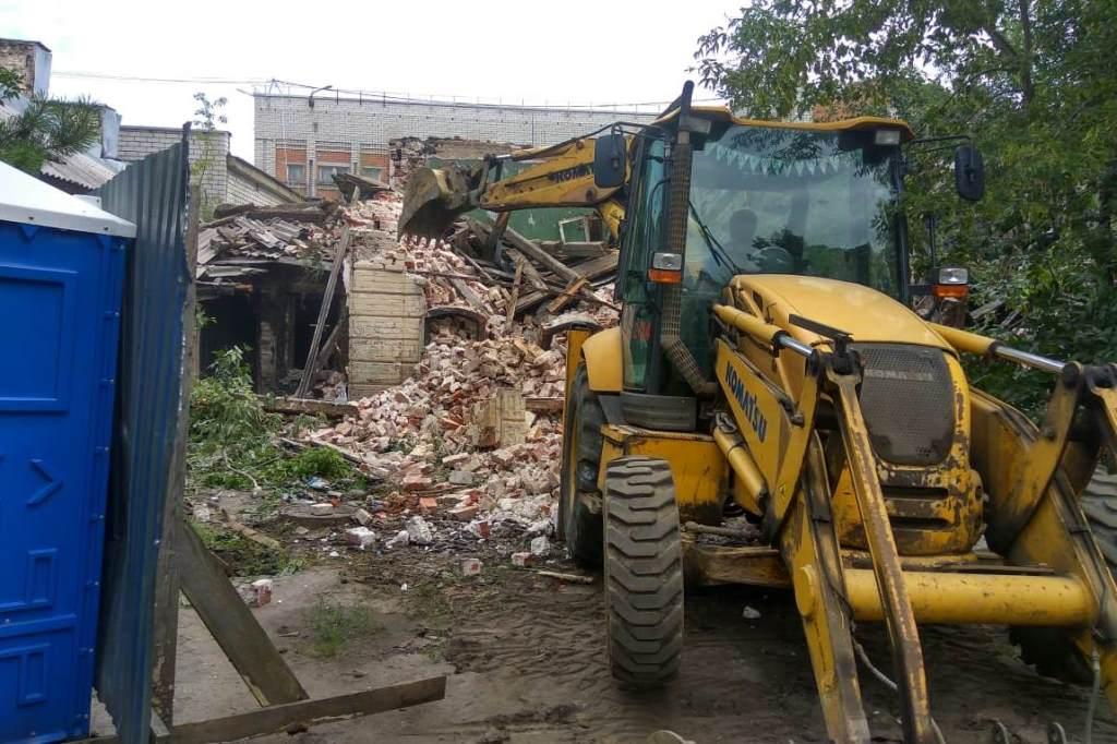 Собственник понесет наказание за снос здания в историческом центре Ярославля