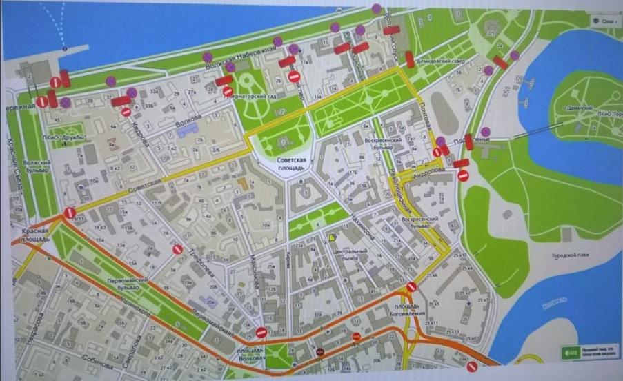 Из-за «Пира на Волге» на сутки перекроют движение в центре Ярославля