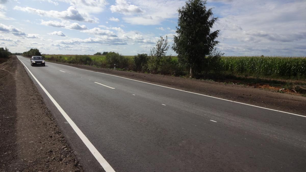 Благодаря федеральному проекту отремонтирована дорога к совхозу «Ярославка»