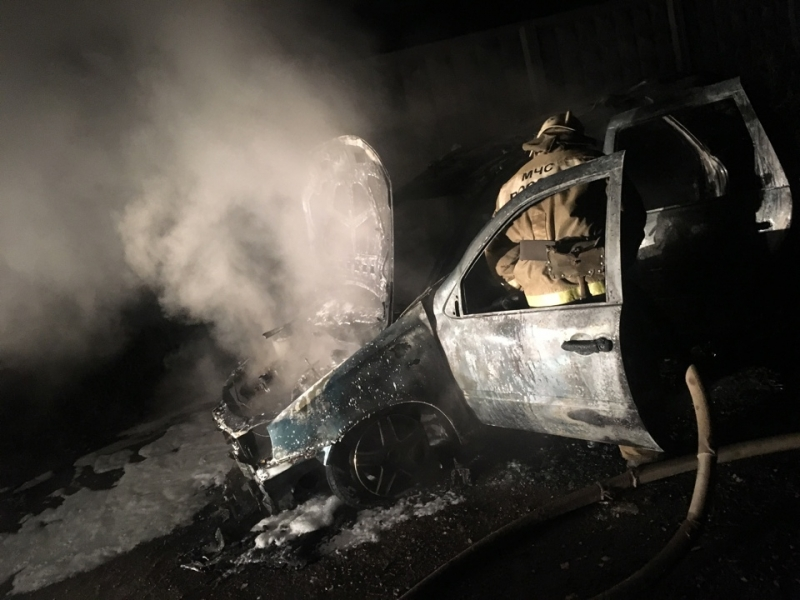 В промзоне в Рыбинске сгорела «Лада Калина»