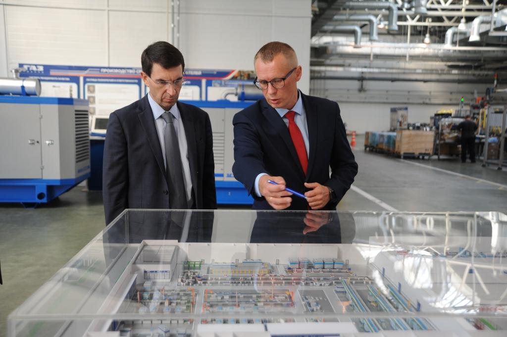 Игорь Щеголев и Дмитрий Миронов посетили производственную площадку ПАО «Автодизель»