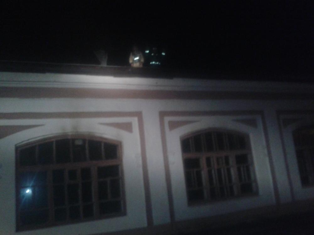 В Рыбинске горело здание речного училища