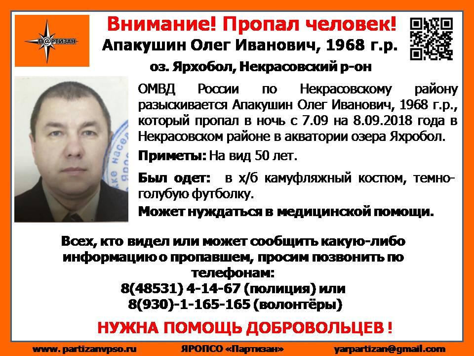 На озере в Ярославской области пропал мужчина