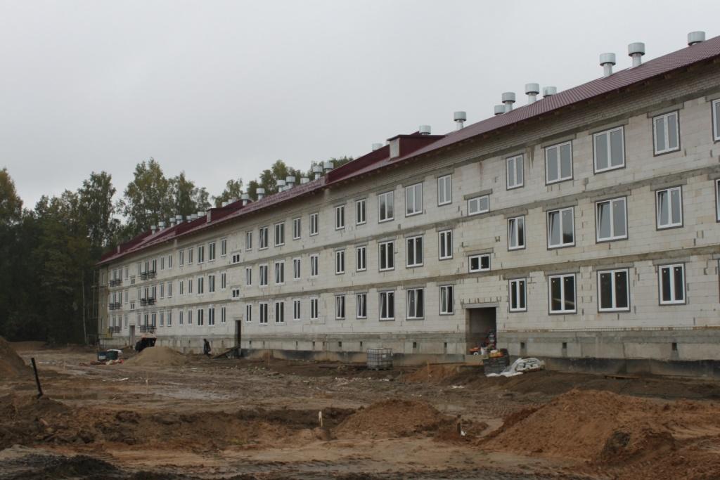 Завершается строительство проблемного дома в поселке Кузнечиха