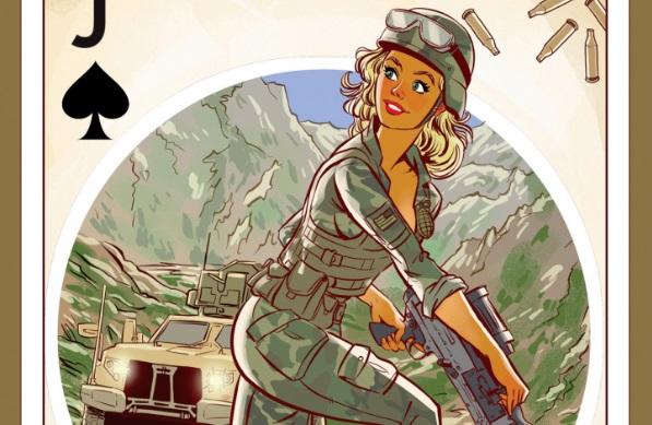 Художник из Рыбинска нарисовал игральные карты для американских солдат в стиле пин-ап