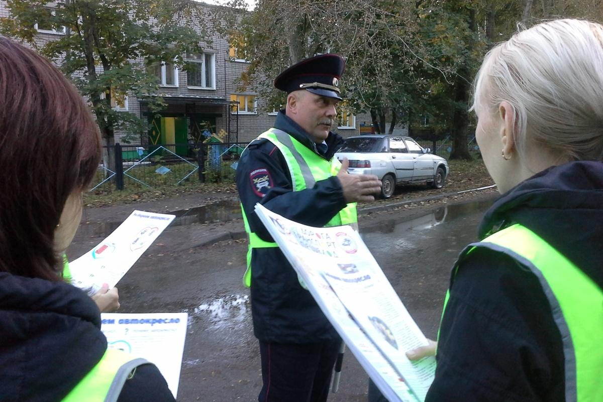 Соблюдение правил на дорогах у детских учреждений проконтролировал «Родительский патруль»
