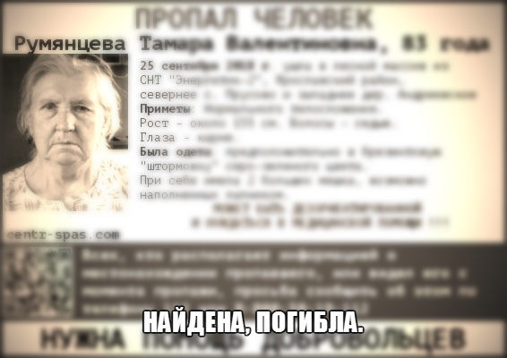 Волонтеры обнаружили в лесу под Ярославлем тело пропавшей пенсионерки