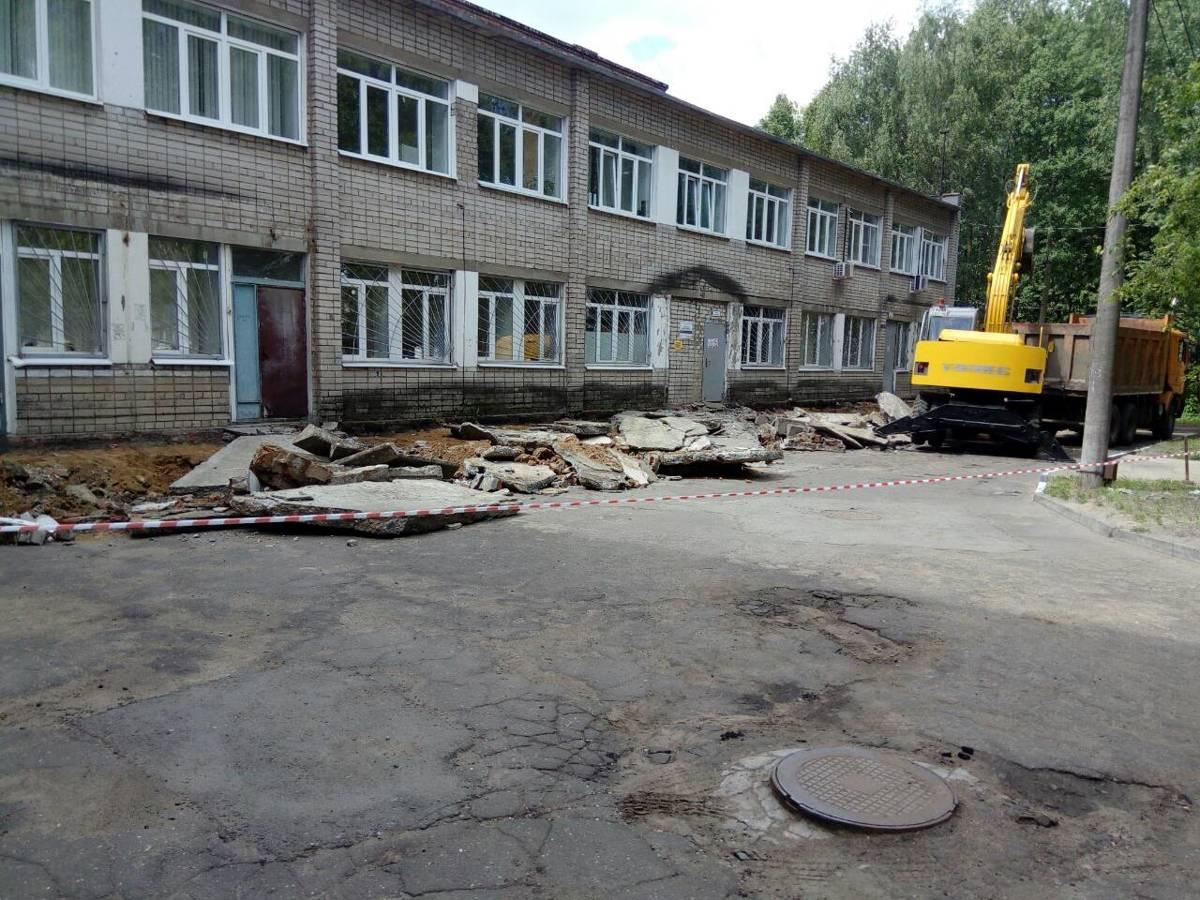 В детской поликлинике больницы №10 отремонтирована входная группа по проекту «Решаем вместе!»