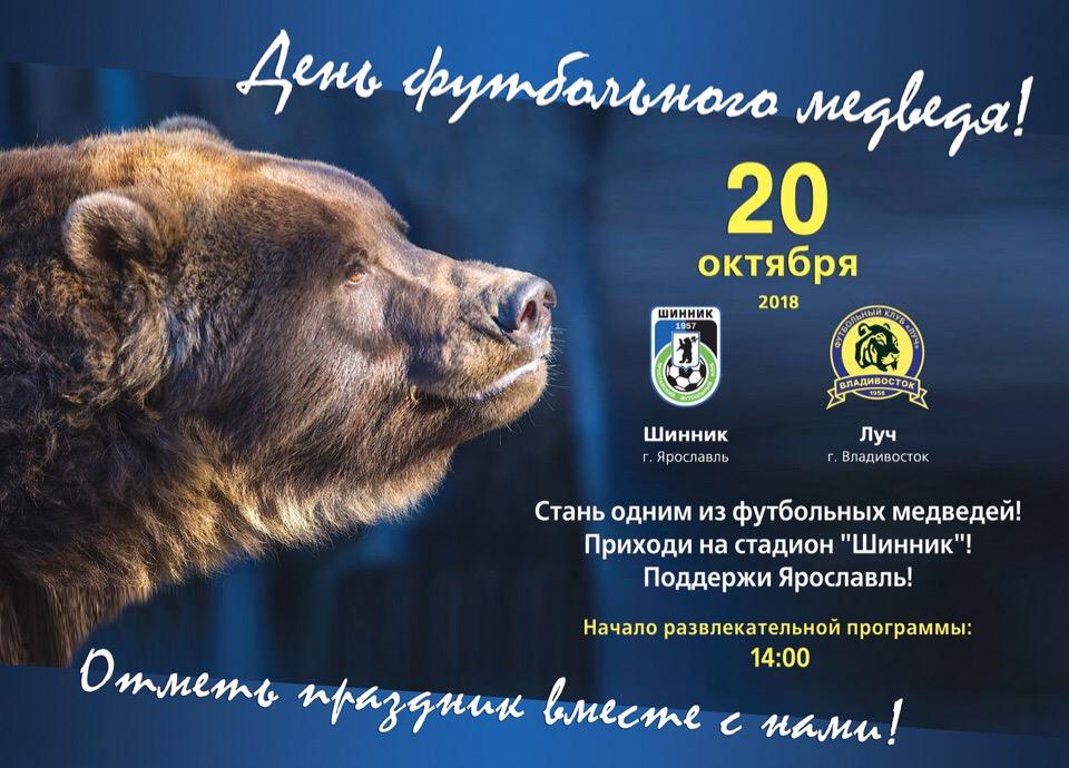 В Ярославле отметят День футбольного медведя