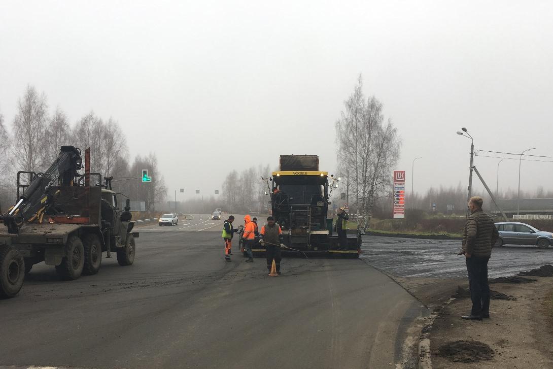 В Рыбинске завершается ремонт участка окружной дороги