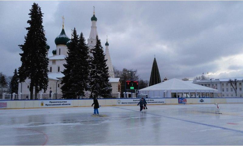 На Советской площади в Ярославле в декабре откроется каток