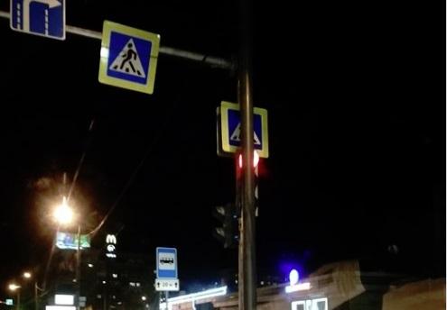 «Игривый» светофор работал на перекрестке двух крупнейших проспектов за Волгой