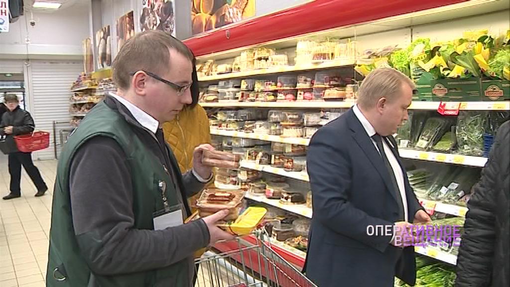 В Ярославле контролеры проверили качество продуктов в брагинском супермаркете