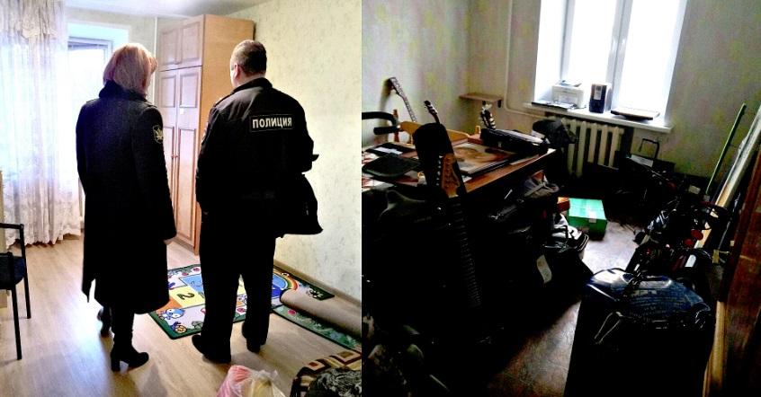 Приставы выселили алиментщика, который устроил арсенал в квартире супруги