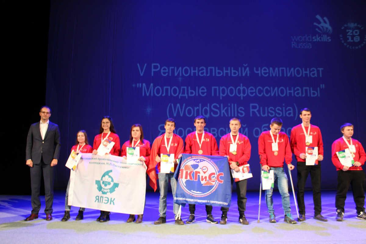 В Ярославле подвели итоги V регионального чемпионата «Молодые профессионалы»