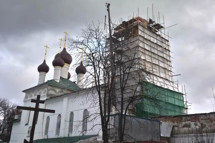 Восстановление колокольни Кирилло-Афанасиевского монастыря планируют завершить до конца года