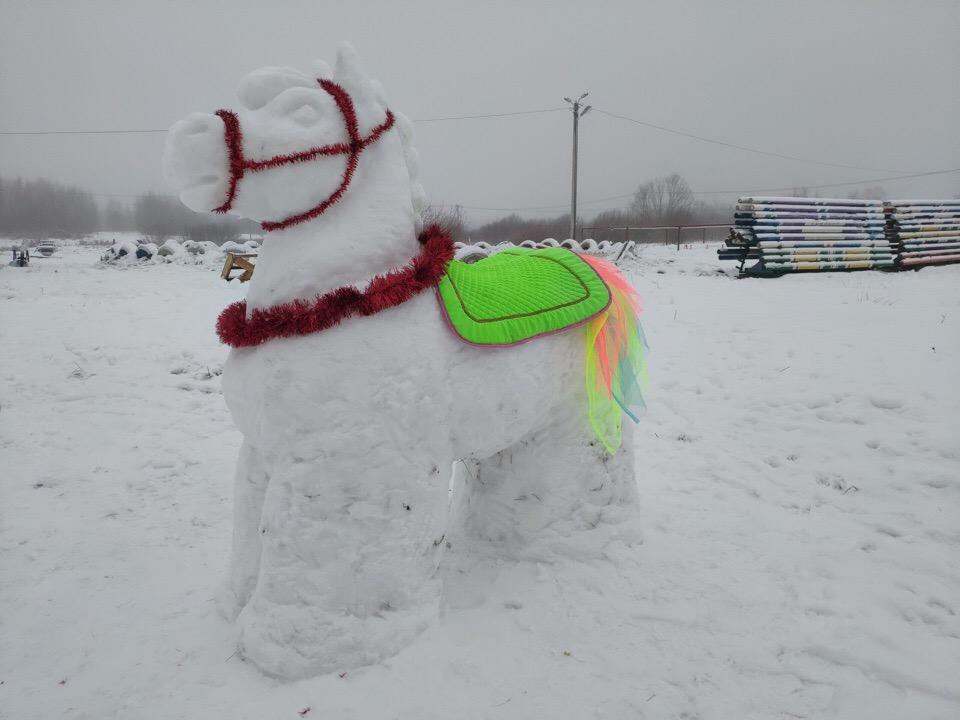 В Рыбинске появился снежный конь