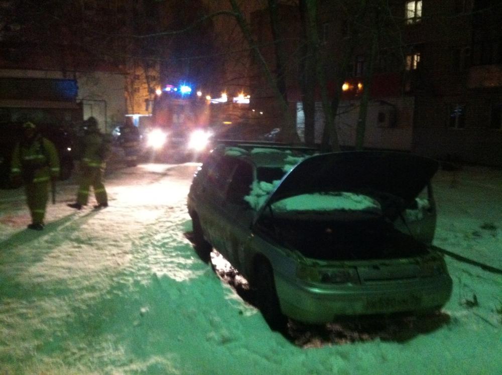 В Рыбинске сгорел легковой автомобиль