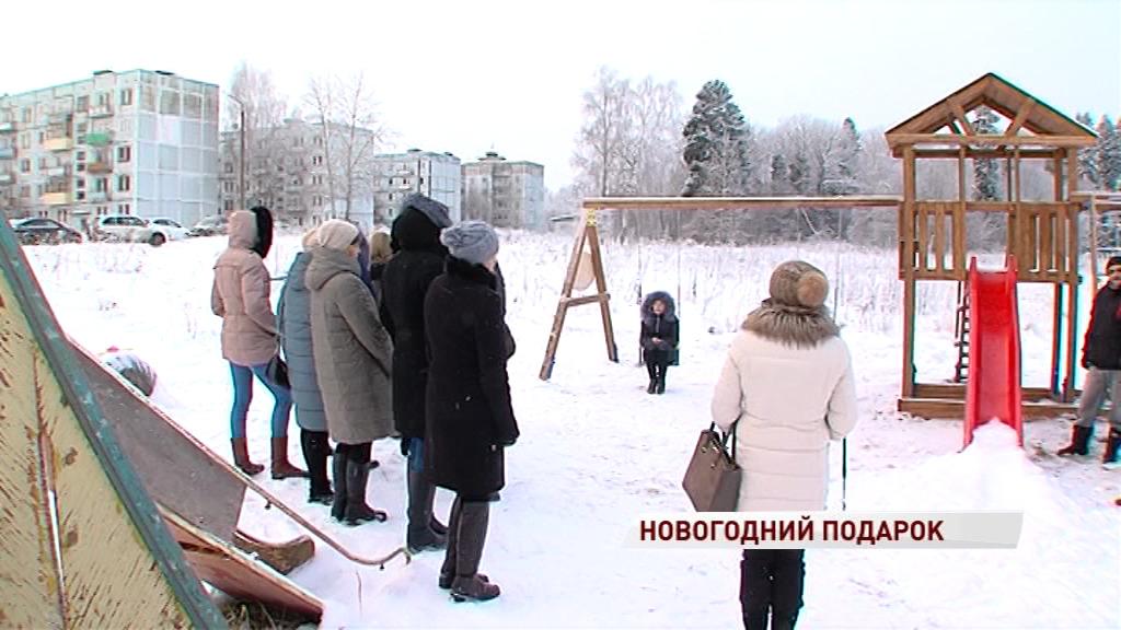 «Русский танк» открыл детскую площадку под Ярославлем