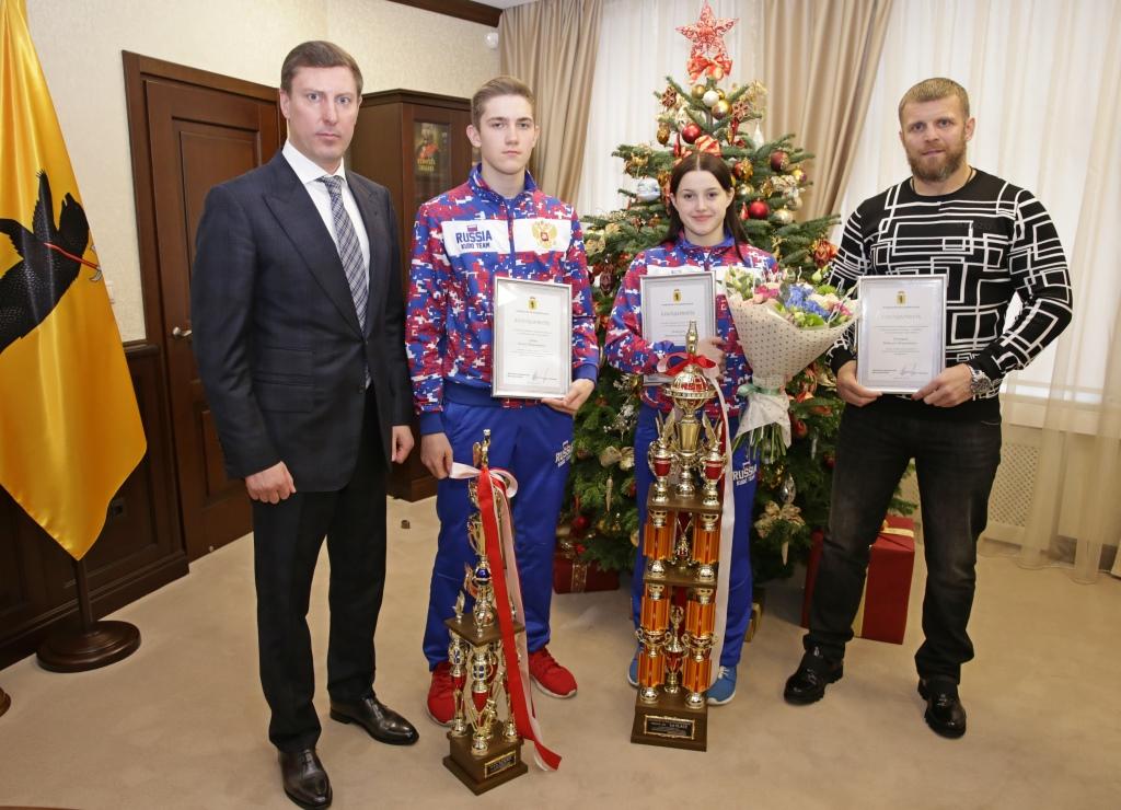 Глава областного правительства поздравил ярославских спортсменов с победой в первенстве и чемпионате мира по кудо